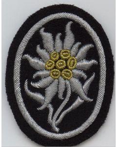 ww2 GERMAN SS OFFICER BULLION EDELWEISS SLEEVE EAGLE