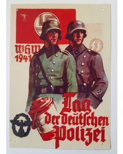 TAG DER DEUTSCHEN POLIZEI 1941 METAL SIGN