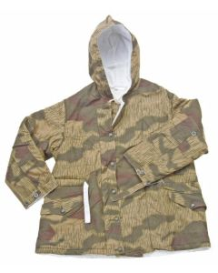 GERMAN TAN WATER PATTERN REVERSIBLE WINTER PARKA