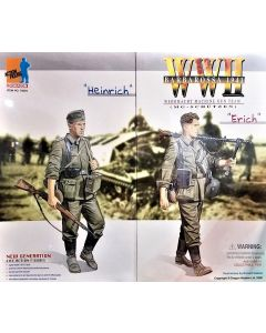 DRAGON FIGURES: HEINRICH & ERICH GERMAN ACTION FIGURE SET - COLLECTIBLE