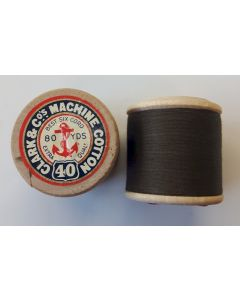 THE CANADIAN COL. 4752 SPOOL COTTON CLARK & Cos MACHINE COTTON THREAD N. 40