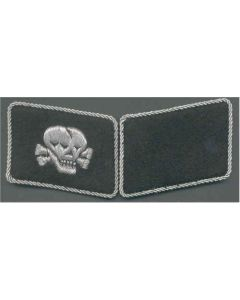 SS TOTENKOPF FOREIGN VOLUNTEER UNIT  OFFICER COLLAR TABS
