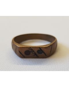 TRENCH ART RING IN BRASS