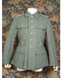 GERMAN M43 TUNIC: M1943 LATE WORLD WAR TWO WOOL JACKET