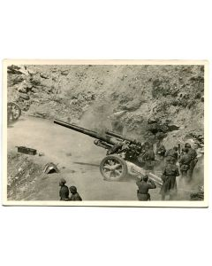 "UNSERE WAFFEN SS ""ARTILLERY ON A MOUNTAIN PASS ROAD"""