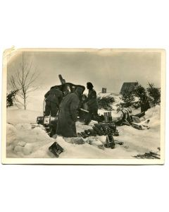 "UNSERE WAFFEN SS POST CARD ""ARTILLERY IN THE EAST"""