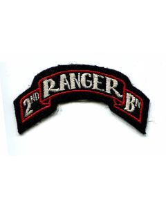 US 2ND RANGER BATTALION SCROLL PATCH ORIGINAL