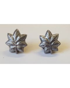 US ARMY MAJOR RANK OAK LEAF PAIR SILVER