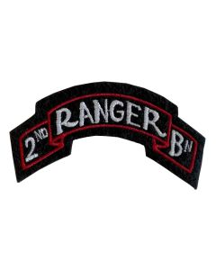 US WW2 2ND RANGER BATTALION SCROLL PATCH