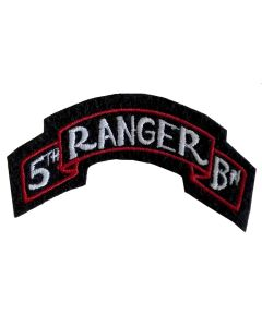 US WW2 5TH RANGER BATTALION SCROLL PATCH