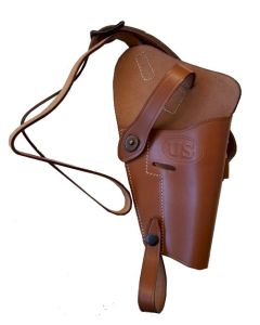 US WW2 M3 COLT 1911 .45 BROWN LEATHER SHOULDER HOLSTER (RIGHT)