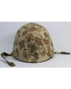 US WW2 M1 HELMET WITH ST CLAIR LINER AND SECOND PATTERN US MARINES COVER ORIGINAL