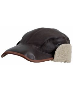USAAF B2 SHEEPSKIN LEATHER FLYING CAP