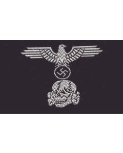 GERMAN SS PANZER ENLISTED MAN M43 TRAPEZOIDS BEVO STYLE HAT BADGE