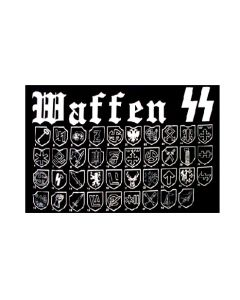 GERMAN WAFFEN SS FLAG CANVAS HEADER & BRASS GROMMETS