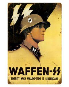 WAFFEN SS METAL SIGN