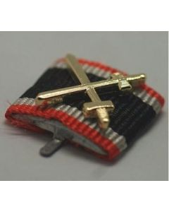 GERMAN WAR MERIT CROSS 2nd CLASS WITH SWORDS CUSTOM RIBBON BAR