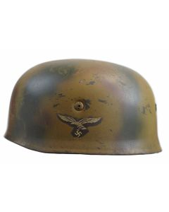 WW2 GERMAN M38 FALLSCHIRMJAGER HELMET NORMANDY CAMO
