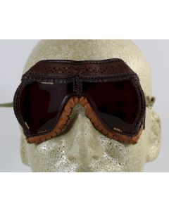 WW2 ORIGINAL AMERICAN DARK ADAPTATION GOGGLES TYPE E-1 BY AMERICAN OPTICAL CO.