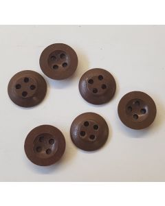 WW2 BRITISH / CANADIAN ARMY BD BATTLE DRESS BUTTONS BROWN ORIGINAL