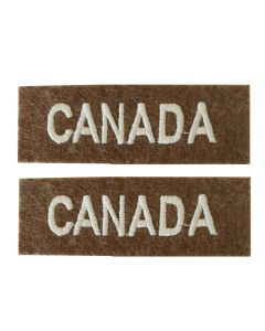 WW2 CANADIAN ARMY CLOTH SHOULDER TITLE FLASH BADGE
