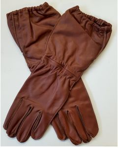 WW2 GERMAN Fallschirmjäger  PARATROOPER BROWN LEATHER GLOVES ( EARLY LONG VERSION)