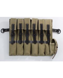 WW2 GERMAN MP40 POUCHES LIGHT GREENTAN