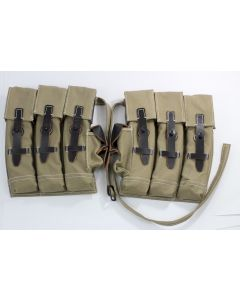 WW2 GERMAN MP44 MAGAZINE POUCH SET TAN / LIGHT GREEN