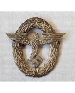 ORIGINAL WWII 1ST PATTER POLICE VISOR CAP EAGLE
