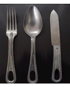 WWII AMERICAN MESS KIT SPOON FORK KNIFE SET