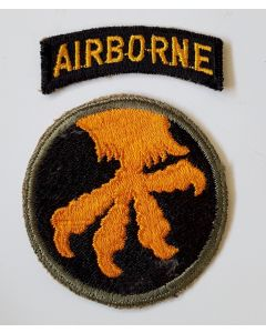 WWII US ARMY 17th AIRBORNE DIVISION PATCH WITH TAB