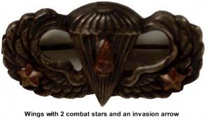 AMERICAN PARATROOPER JUMP WINGS BADGE ARMY STERLING