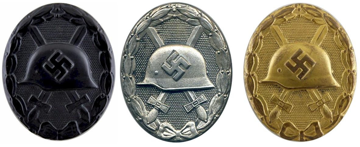3 wound badges