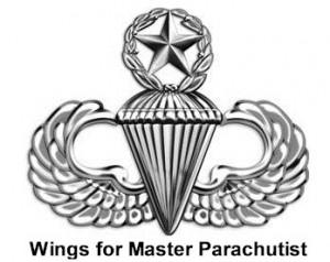 AMERICAN PARATROOPER JUMP WINGS BADGE ARMY STERLING ww11