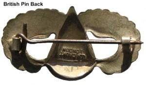 American WW11 Parachutist badge pin back Jump Wings