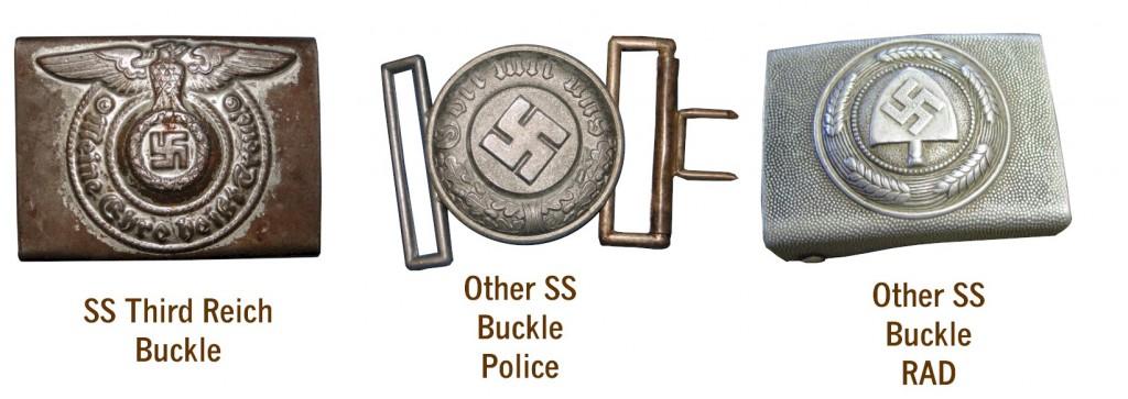German WW2 SS THIRD REICH BELT BUCKLES