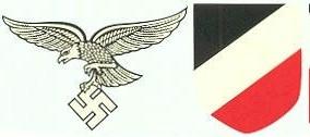 Luftwaffe Decal for the German Helmet in WW2