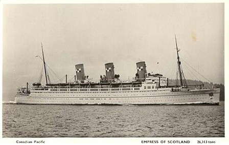 Empress of Scotland GOING OVERSEAS with Corporal Harry Winther