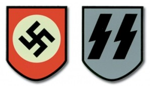 SS Decal for the German M35 Helmet WWii