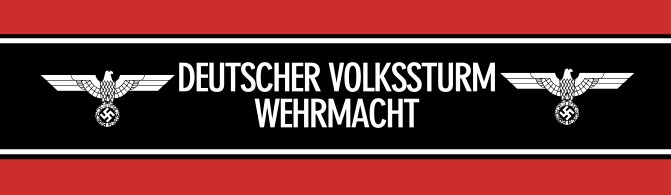 Volkssturm arm band Germany WWII
